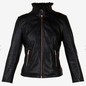 4d77f15e2 Ted Baker London Jackets   Coats - NWT Ted Baker Trekma Frill Collar  Leather Jacket